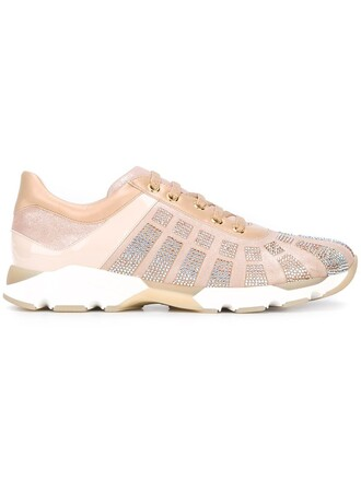 embellished sneakers nude shoes