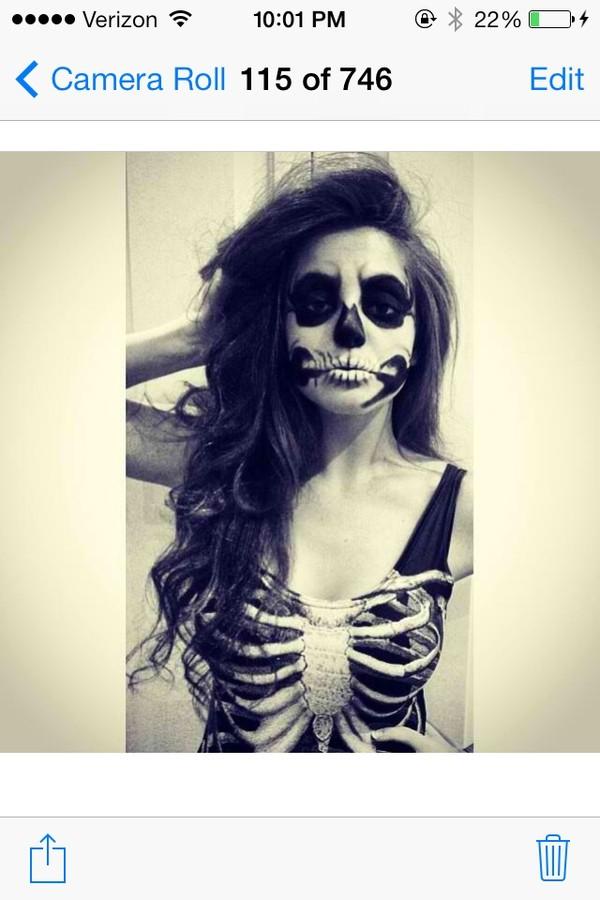 dress skeleton bodycon