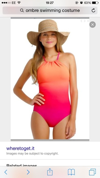 swimwear ibiza costume pink orange ombre sun