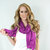 Radiant Orchid Scarf Fashioin Womens Hair Wrap Purple Lightweight Infinity Magenta