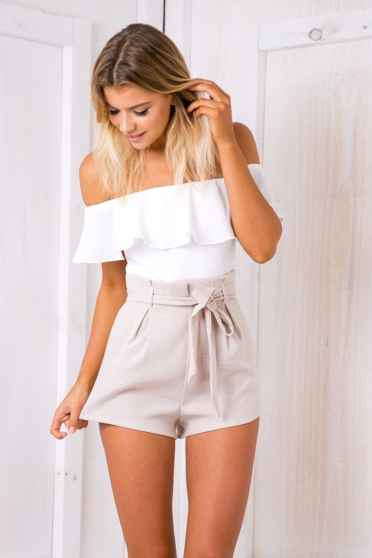 Katie playsuit - White/Beige - Stelly