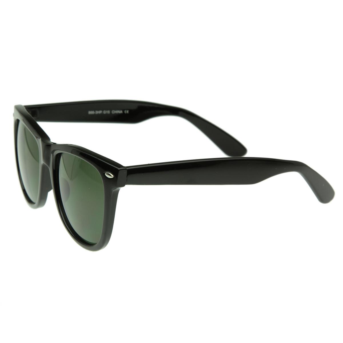 Large Vintage Classic 80s Wayfarer Sunglasses 2373 G15 ...