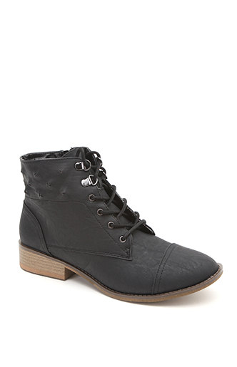Qupid Vinci Lace Up Ankle Boots at PacSun.com