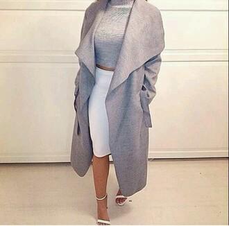 jacket cardigan wool grey oversized coat sweater grey coat grey sweater wool coat cute sweaters winter wooly knit wear grey cardigan