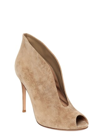 open boots suede boots suede beige shoes