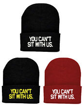 you can't sit with us beanie hat aint no wifey bad hair day style cap come des | eBay