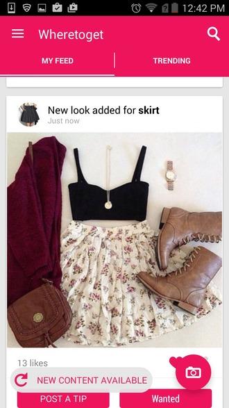 skirt cardigan