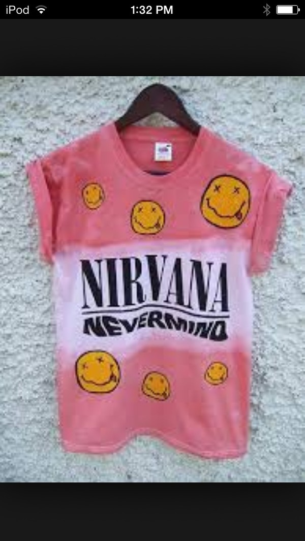 t-shirt nirvana pink nevermind