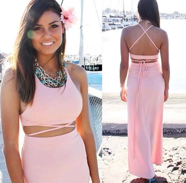 dress maxi dress pink dress