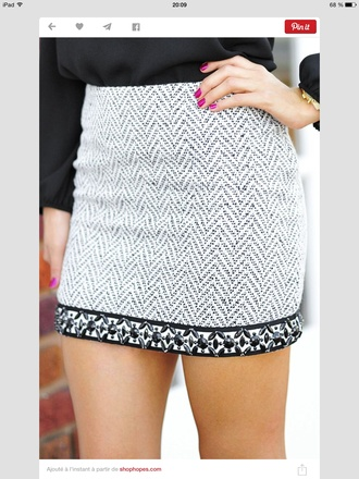 white skirt chevron grey skirt embroidered winter outfits