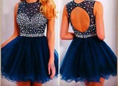 dress,blue dress,blue,backless,backless dress,sparkly dress,sparkle,sequins,sequin dress