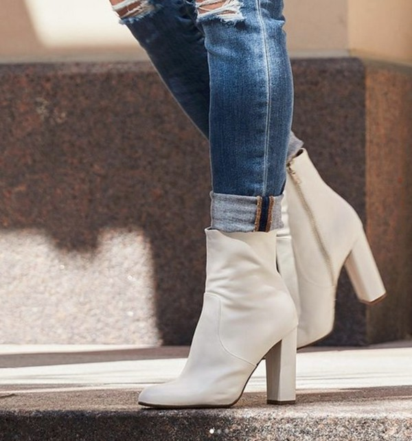 09acb0ccc6e shoes steve madden zappos boots white boots leather leather boots trendy  back to school blogger style.