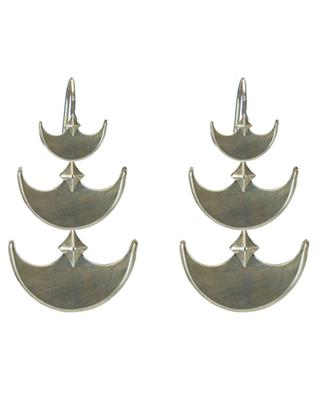 Pit & Pendelum Earrings in White Bronze