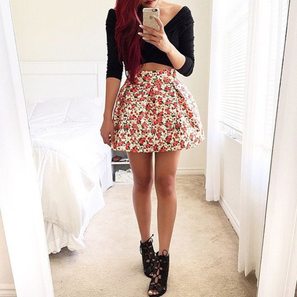 Skirt tumblr cute pretty style fashion tumblr outfit tumblr shirt tumblr shorts tumblr Pretty girl fashion style tumblr