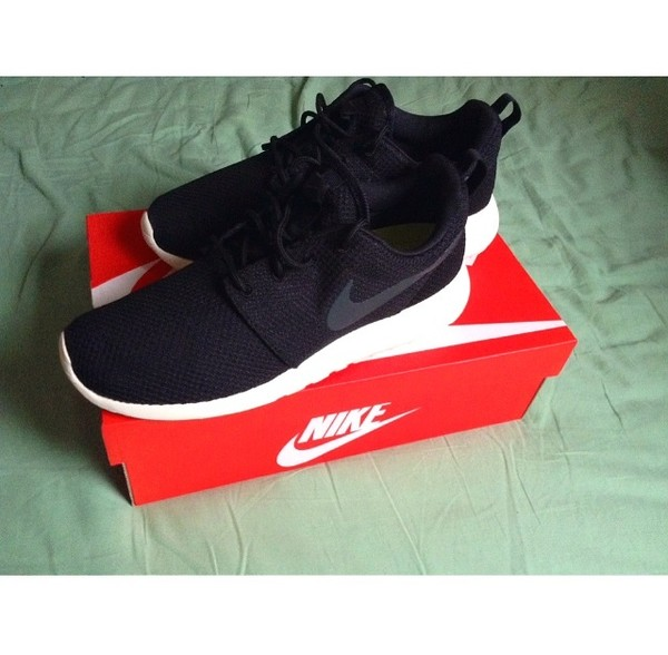 shoes sail mypic nike roshe run nike roshes runs black anthracite