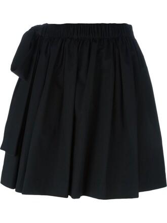 skirt mini skirt bow mini black