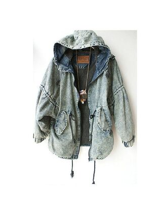 jacket denim blue outerwear winter autumn oversized