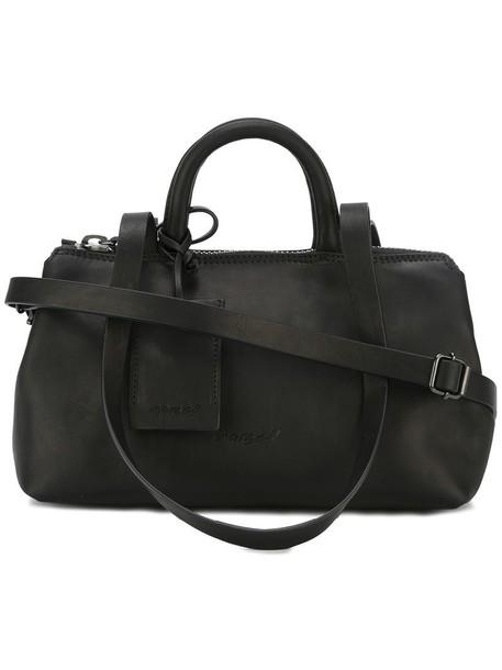 straps women leather black bag