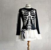 dress,gothic lolita,goth,gothic dress,skeleton