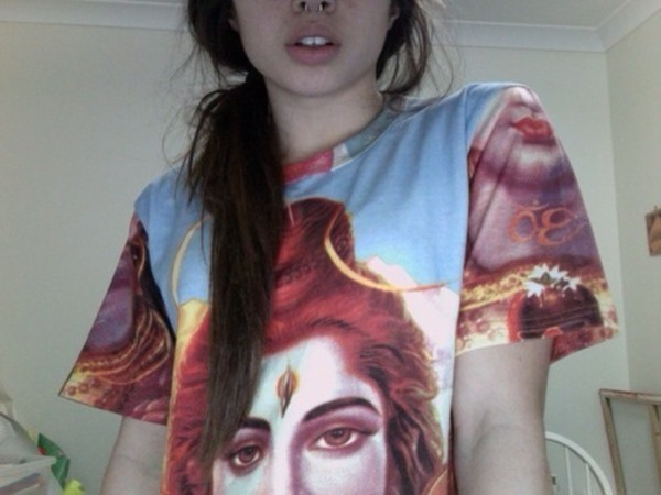 shirt indian pale buddhism buddha ganesha grunge soft grunge tumblr india