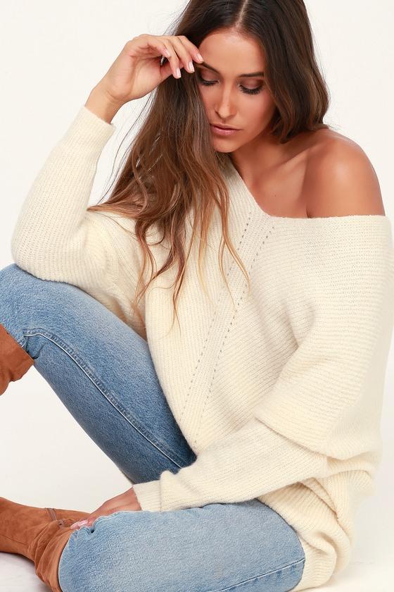 Emerson Cream Dolman Sleeve Sweater
