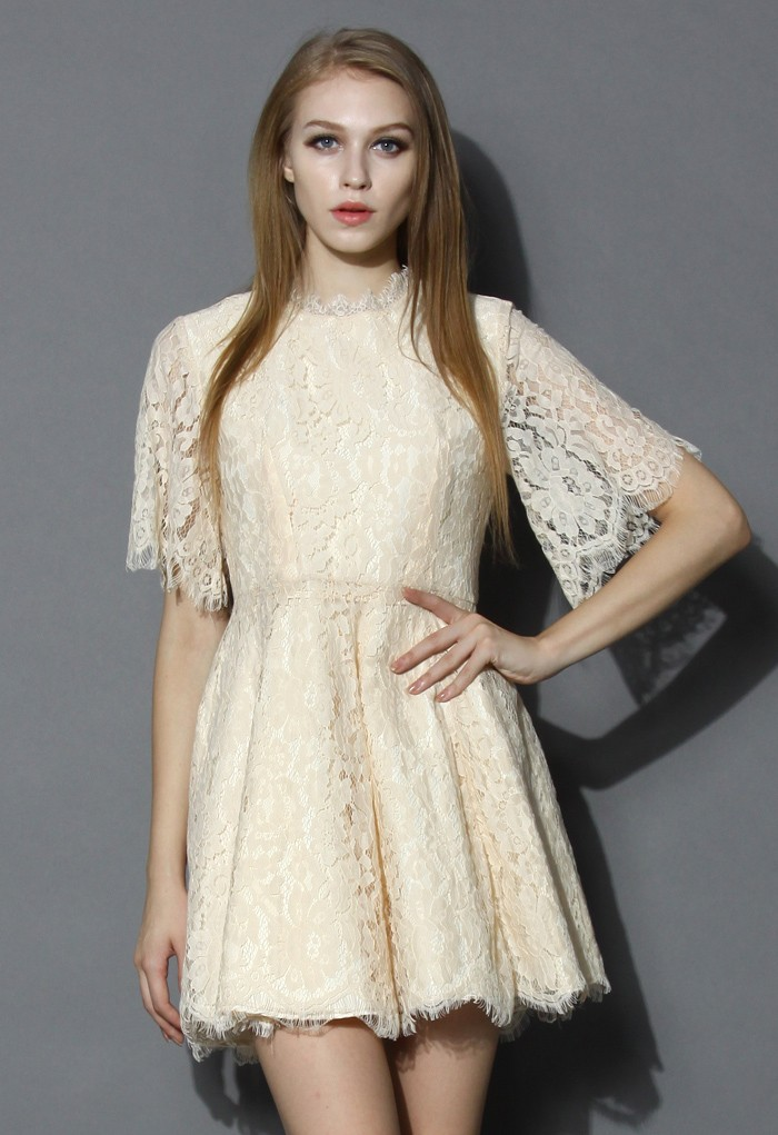 Keep You Grace Floral Full Lace Dress - Retro, Indie and Unique Fashion