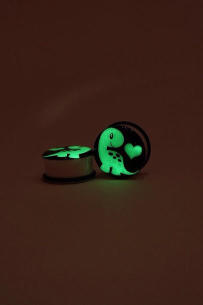 jewels ear plug ear piercings dinosaur