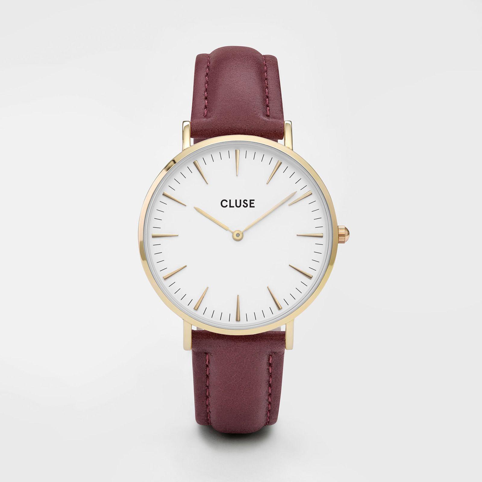 CLUSE La Bohème Gold White/Marsala CL18415