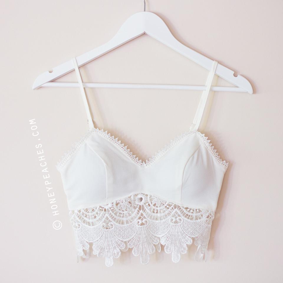 restocked summer nights crochet crop top white honey. Black Bedroom Furniture Sets. Home Design Ideas
