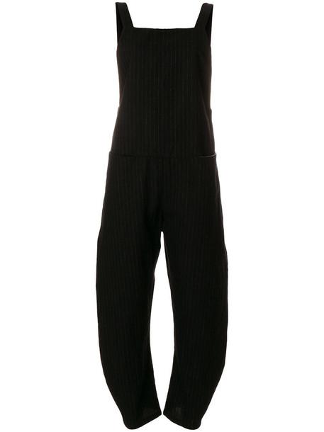 overalls women black wool jumpsuit