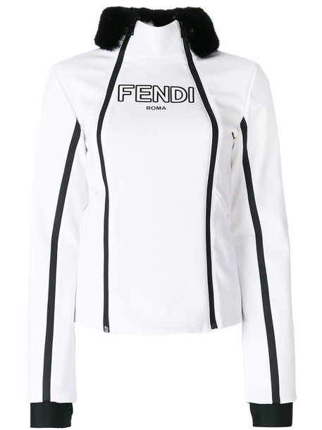 Fendi jacket fur women spandex white