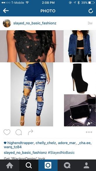 jeans blue jeans demon super skinny destroyed skinny jeans