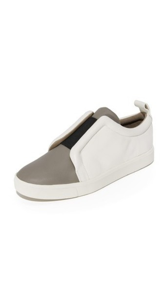 Vince Caden Slip On Sneakers - Woodsmoke/Black/Alabaster
