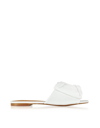sandals flat sandals leather white shoes