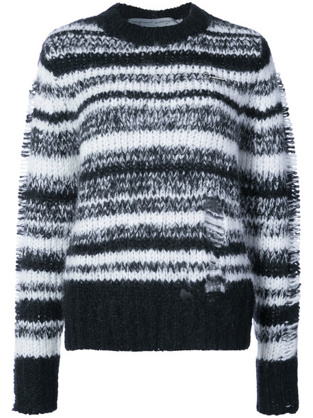 top knitted top women mohair black