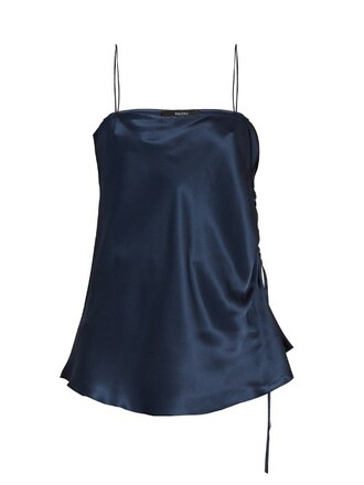 top silk satin navy