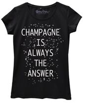 t-shirt,graphic tee,quote on it,funny,cool,black,champagne,graphic shirt,jersey tee shirt,black dress,funny quote shirt,love quotes,swag
