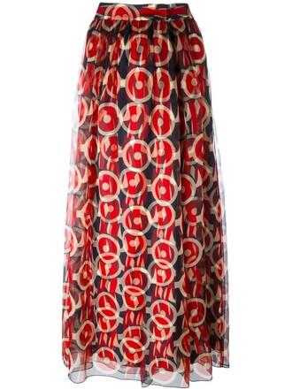 skirt maxi skirt maxi print blue