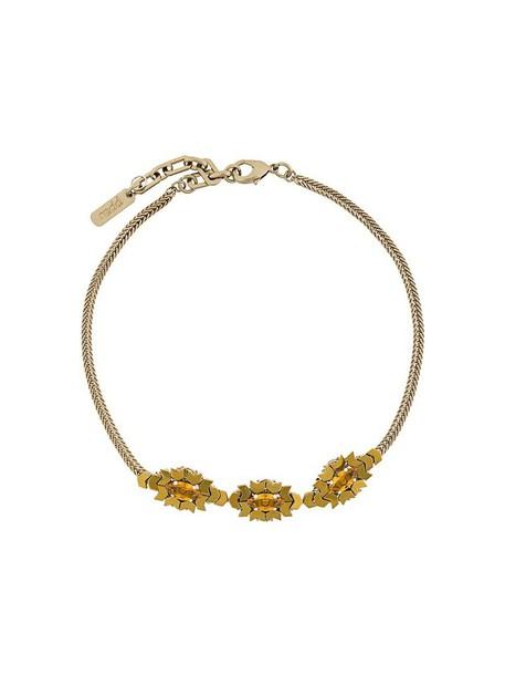 RADÀ stone necklace women triple necklace grey metallic jewels