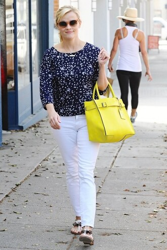 jeans pants sandals flats reese witherspoon shoes