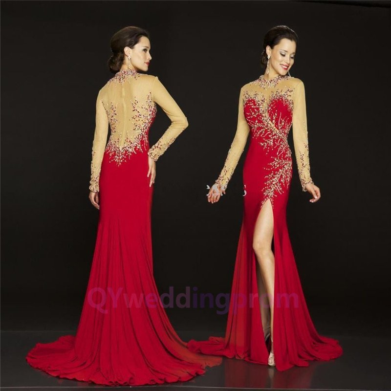 Sleeve chiffon prom formal evening pageant dresses cocktail gown