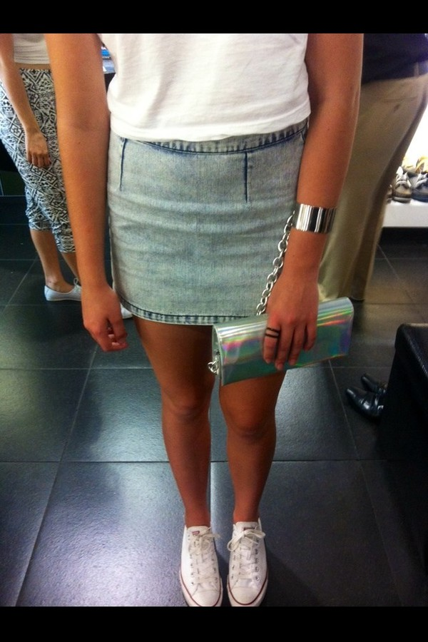 skirt denim acid wash denim skirt