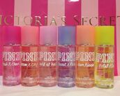 home accessory,pink,victoria's secret,body mist,fresh and clean,wild at heart,sun kissed,pink by victorias secret