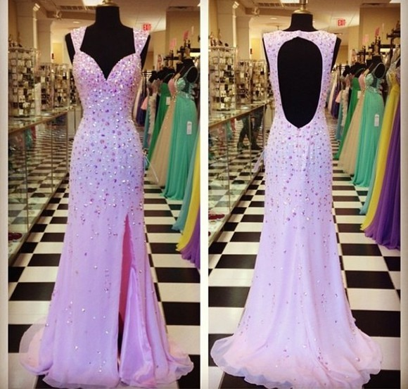 dress prom 2014 prom dresses pink jewels cut-out long prom dresses
