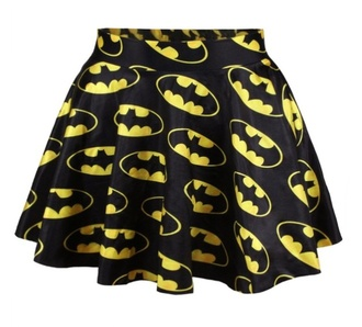 skirt design batman black yellow