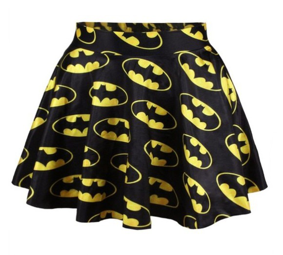 batman skirt yellow black design