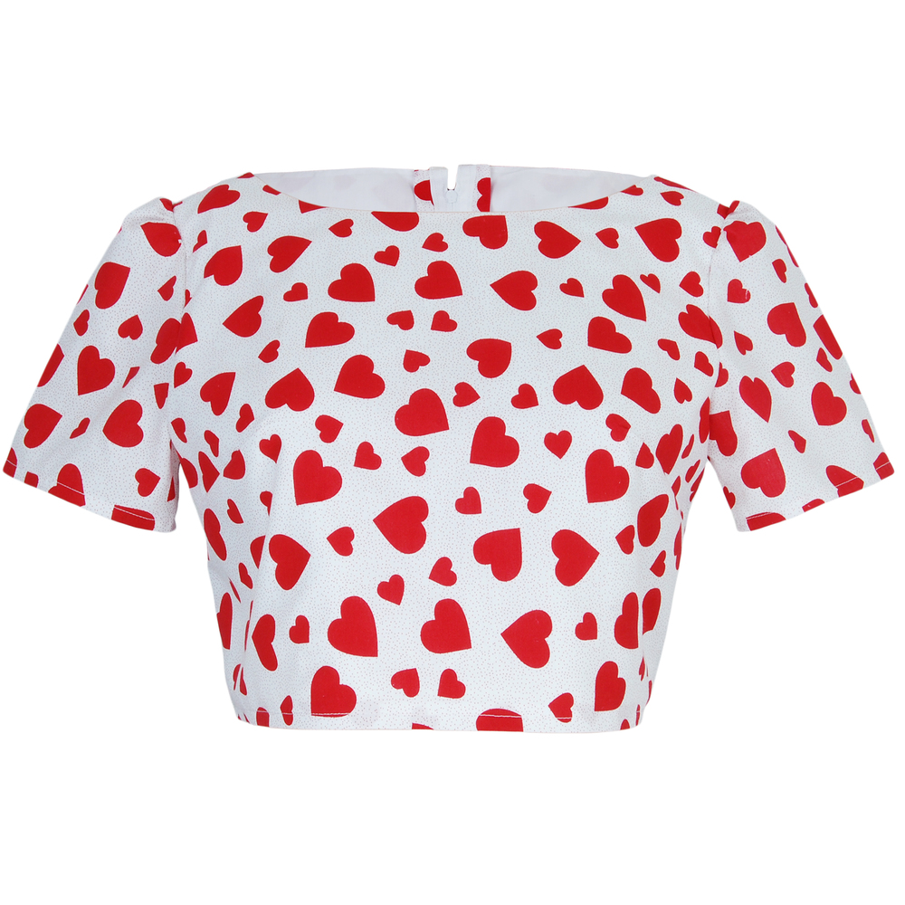 Heart Print CropTop | Style Icon`s Closet