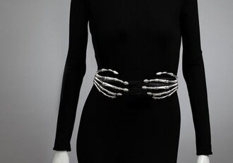 dress black dress black white pale grunge skeleton skull