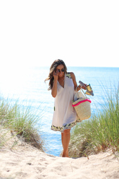 lilly's style,blogger,dress,shoes,bag,jewels,sunglasses