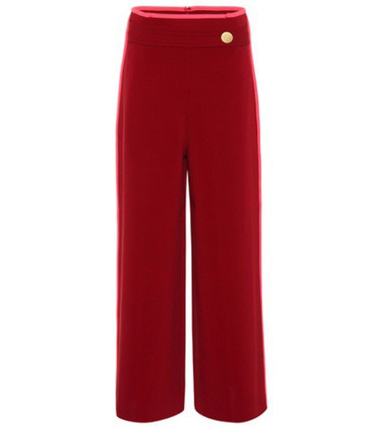 Peter Pilotto culottes red pants
